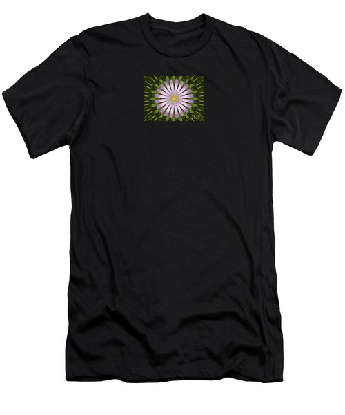Green And Purple Starburst Men's T-Shirt (Athletic Fit)
