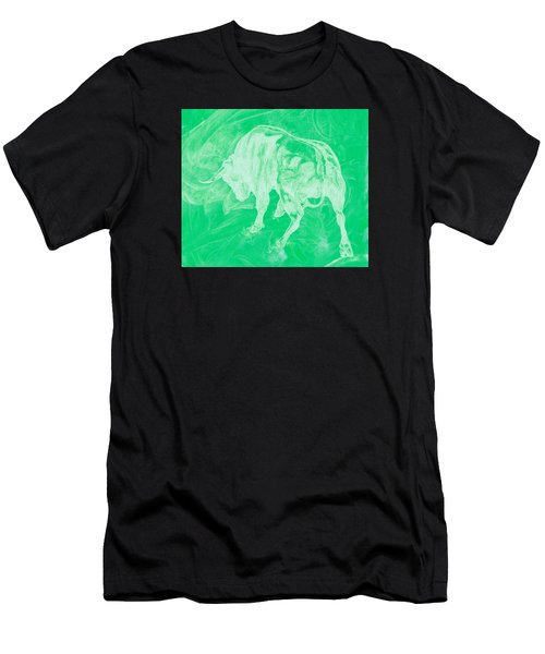 Green Bull Negative Men's T-Shirt (Athletic Fit)