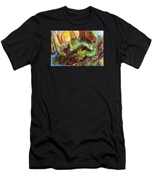 Green Earth Dragon Men's T-Shirt (Athletic Fit)