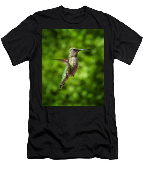 Green Hummingbird Men's T-Shirt (Athletic Fit)