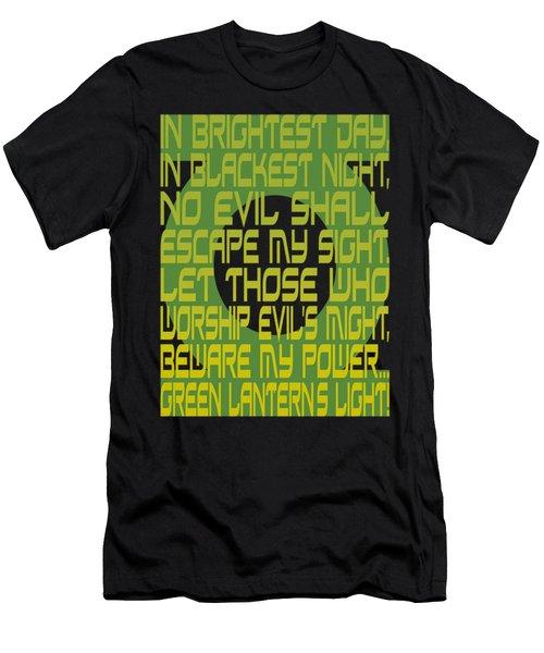 Green Lantern - Green Lantern Oath Men's T-Shirt (Athletic Fit)