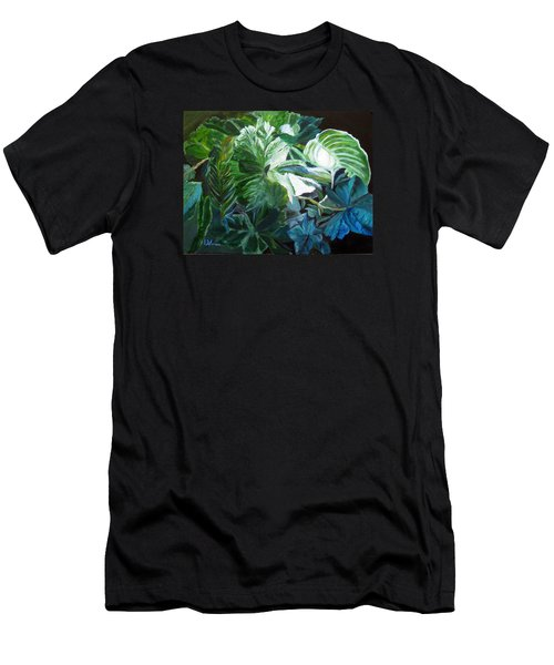 Green Leaves Study Men's T-Shirt (Athletic Fit)