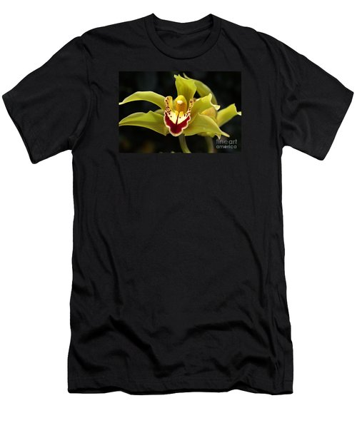 Green Orchid Flower Men's T-Shirt (Slim Fit) by Joy Watson