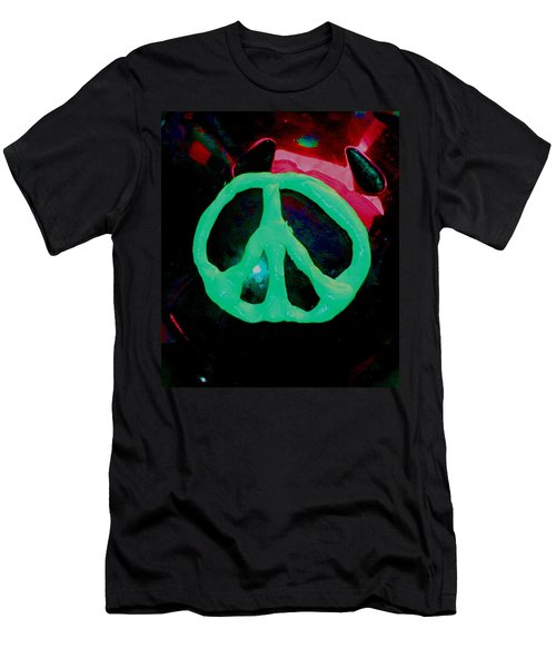 Peace Symbol Men's T-Shirt (Athletic Fit)
