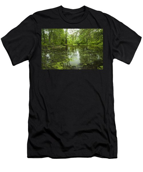 Green Blossoms On Pond Men's T-Shirt (Athletic Fit)