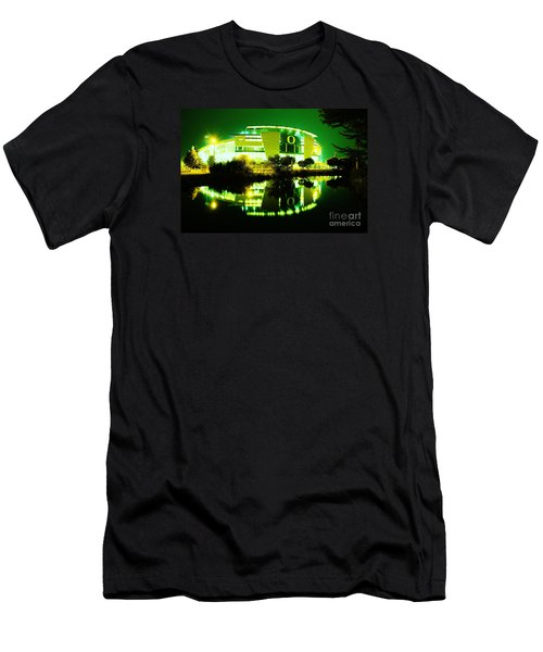 Green Power- Autzen At Night Men's T-Shirt (Athletic Fit)