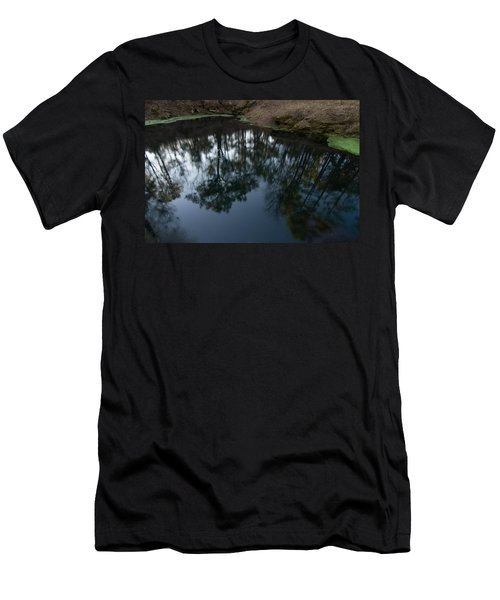 Men's T-Shirt (Slim Fit) featuring the photograph Green Sink Reflection by Paul Rebmann