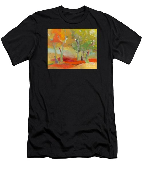 Men's T-Shirt (Athletic Fit) featuring the painting Green Trees by Michelle Abrams