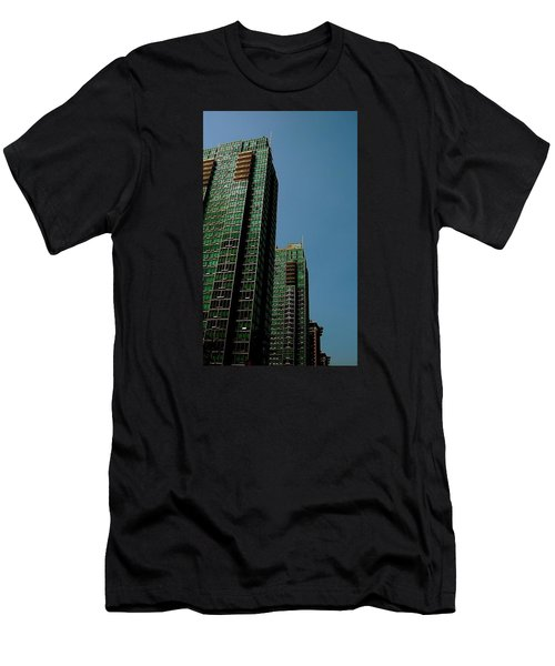 Green Vancouver Towers Men's T-Shirt (Athletic Fit)