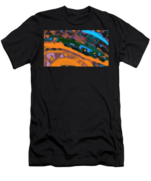 Men's T-Shirt (Athletic Fit) featuring the digital art Green Virtual Voyage by Mihaela Stancu