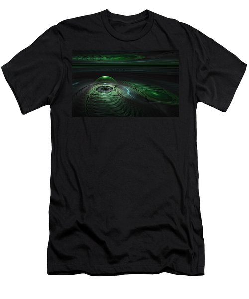 Men's T-Shirt (Slim Fit) featuring the digital art Greenland Outpost by GJ Blackman