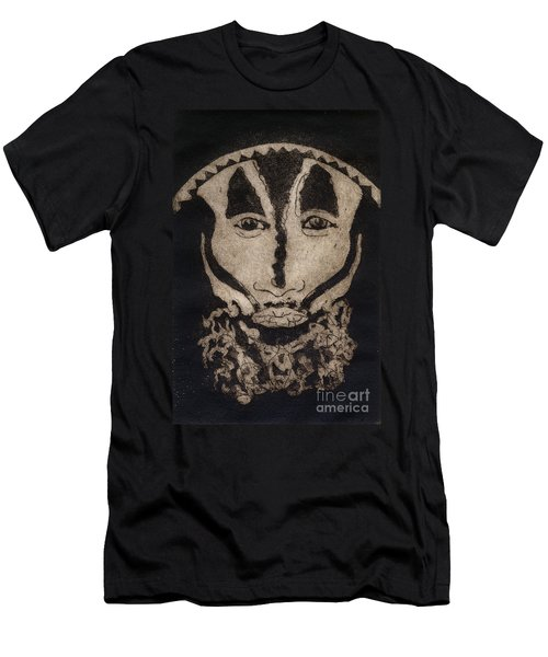 Greetings From New Guinea - Mask - Tribesmen - Tribesman - Tribal - Jefe - Chef De Tribu Men's T-Shirt (Athletic Fit)