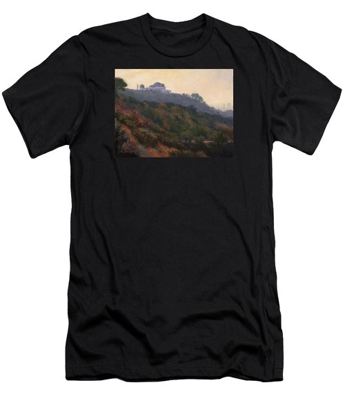 Griffith Park Observatory- Late Morning Men's T-Shirt (Athletic Fit)