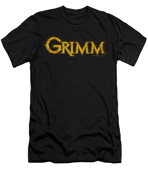 Grimm - Gold Logo Men's T-Shirt (Athletic Fit)