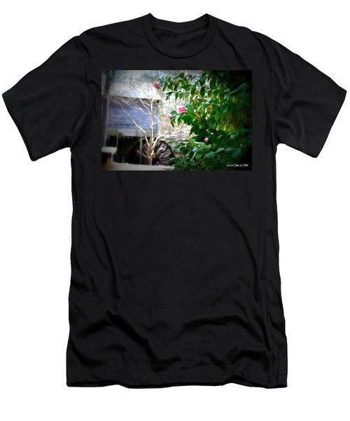 Men's T-Shirt (Slim Fit) featuring the photograph Grist Mill Roses by Tara Potts