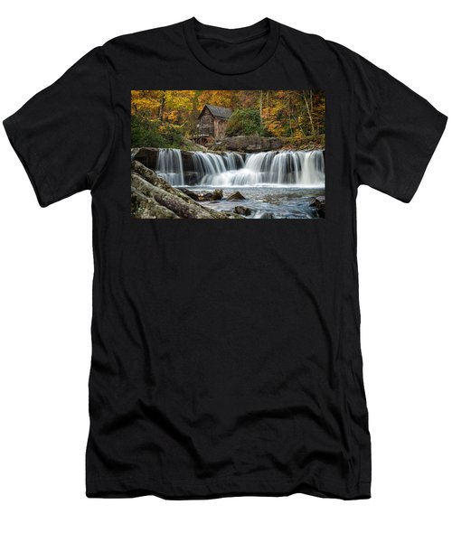 Grist Mill With Vibrant Fall Colors Men's T-Shirt (Athletic Fit)