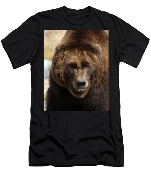 Men's T-Shirt (Slim Fit) featuring the photograph Grizzly by Steve McKinzie
