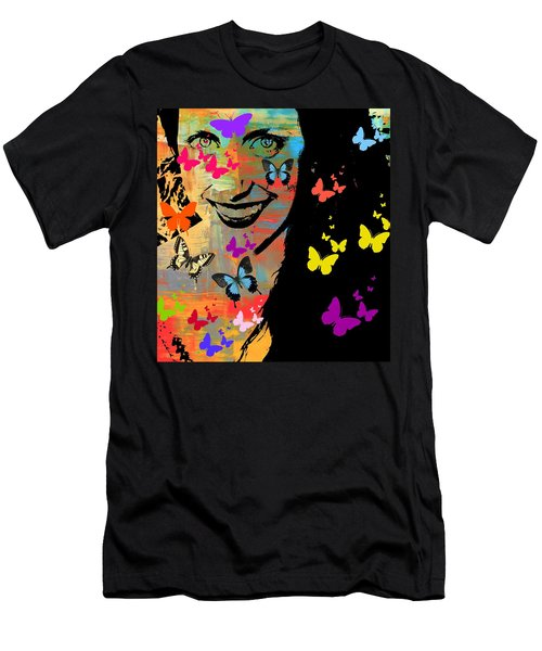 Groovy Butterfly Gal Men's T-Shirt (Athletic Fit)