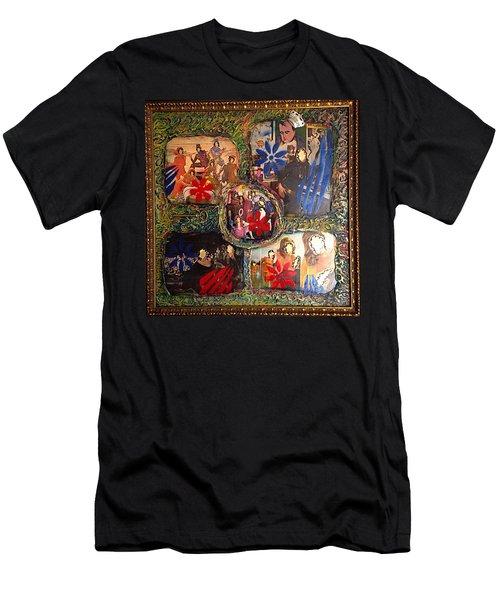 Groovy Celebrations By Alfredo Garcia Men's T-Shirt (Athletic Fit)