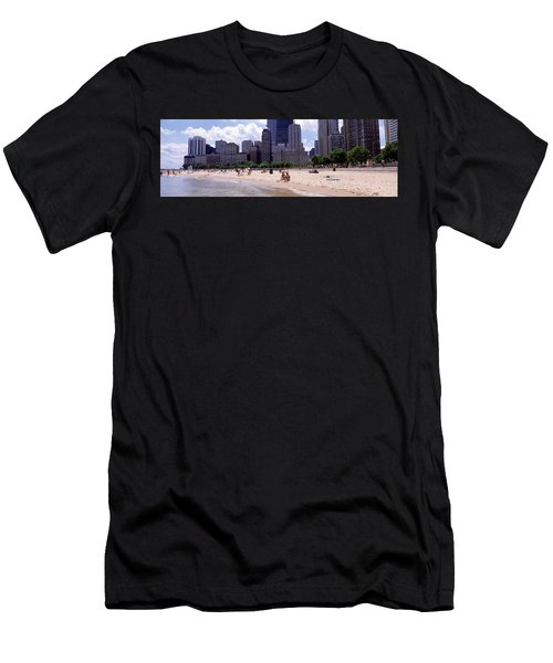 Group Of People On The Beach, Oak Men's T-Shirt (Athletic Fit)