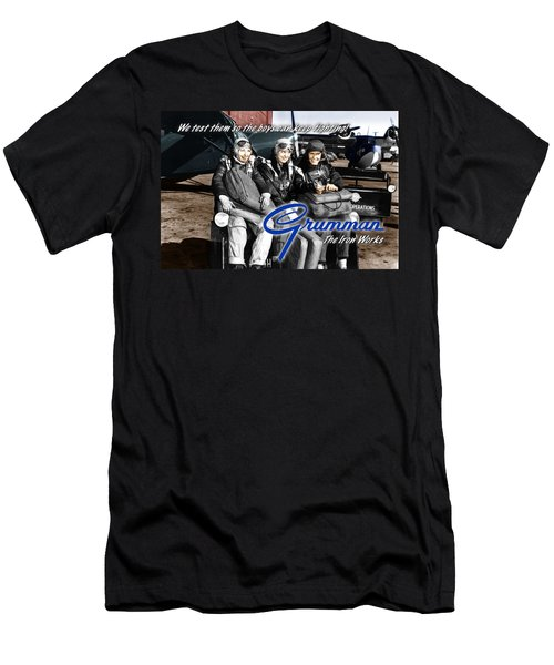 Grumman Test Pilots Men's T-Shirt (Athletic Fit)