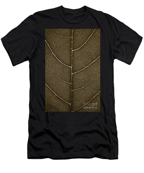 Men's T-Shirt (Slim Fit) featuring the photograph Grunge Leaf Detail by Carsten Reisinger