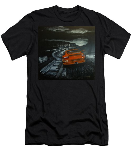 Men's T-Shirt (Athletic Fit) featuring the painting Gt3 @ Le Mans #2 by Richard Le Page