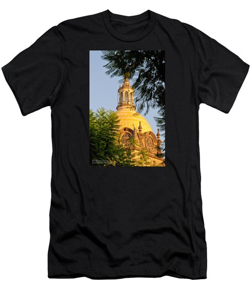 Men's T-Shirt (Slim Fit) featuring the photograph The Grand Cathedral Of Guadalajara, Mexico - By Travel Photographer David Perry Lawrence by David Perry Lawrence