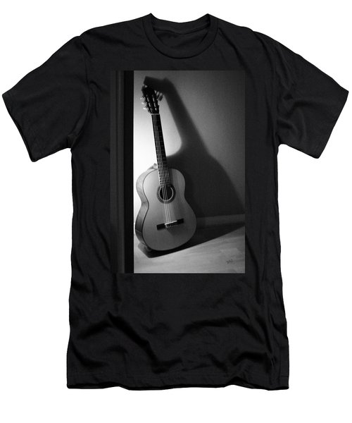 Guitar Still Life In Black And White Men's T-Shirt (Athletic Fit)