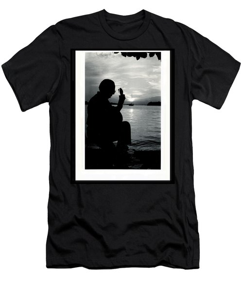 Guitarist By The Sea Men's T-Shirt (Slim Fit) by The Art of Alice Terrill