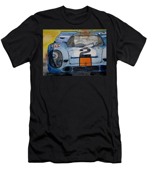 Gulf Porsche Men's T-Shirt (Slim Fit) by Anna Ruzsan