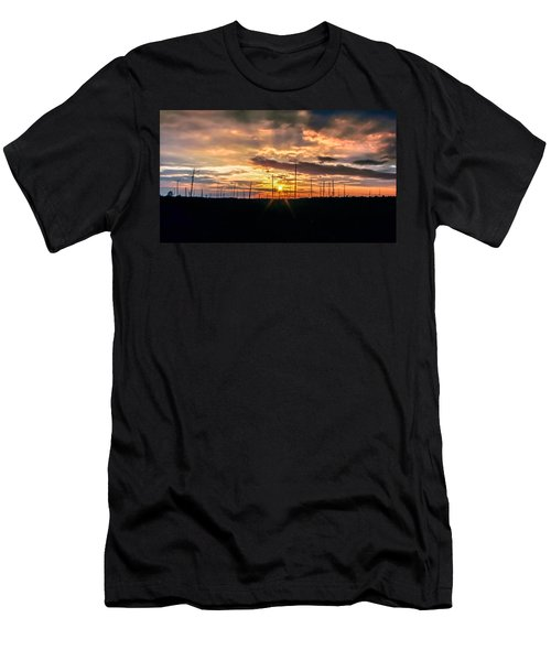 Gulf Shore Sunset Men's T-Shirt (Athletic Fit)