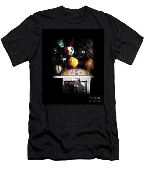 Series - Gumball Memories 1 - Iconic New York City Men's T-Shirt (Slim Fit) by Miriam Danar