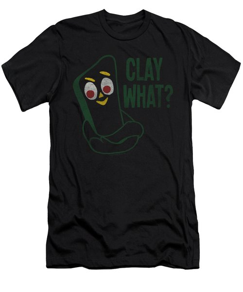 Gumby - Clay What Men's T-Shirt (Athletic Fit)
