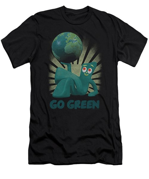 Gumby - Go Green Men's T-Shirt (Athletic Fit)