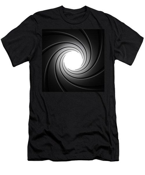 Gun Barrel From Inside Men's T-Shirt (Slim Fit) by Johan Swanepoel