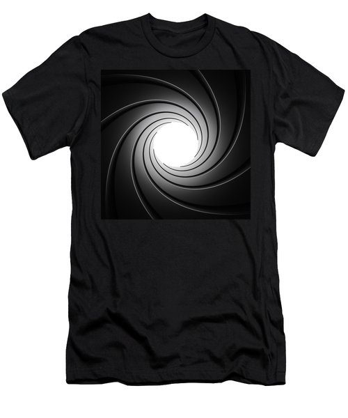 Gun Barrel From Inside Men's T-Shirt (Athletic Fit)