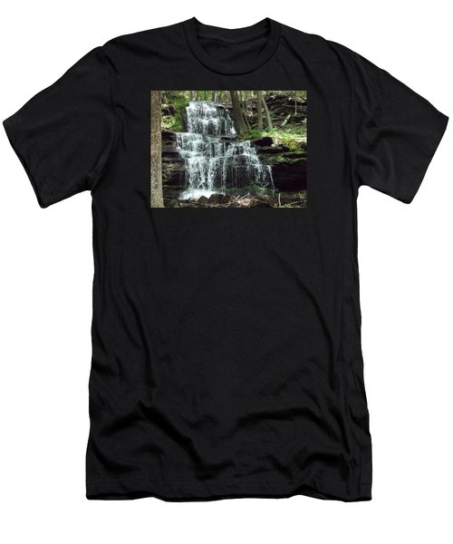 Gun Brook Falls Men's T-Shirt (Athletic Fit)