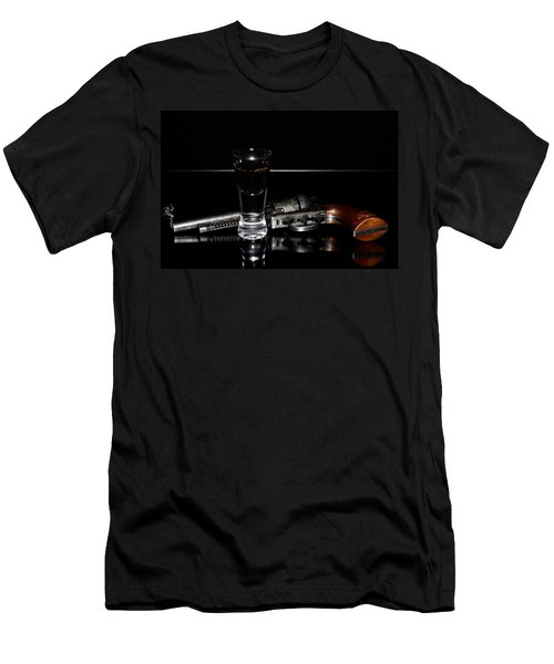Gun With Smoke Men's T-Shirt (Athletic Fit)