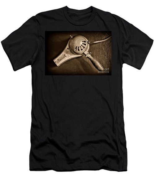 Hair Stylist - Vintage Hair Dryer - Black And White Men's T-Shirt (Athletic Fit)