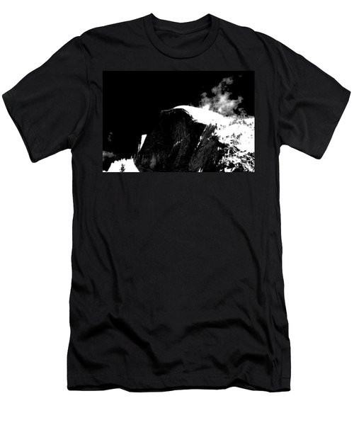 Half Dome In Winter Bw Men's T-Shirt (Athletic Fit)