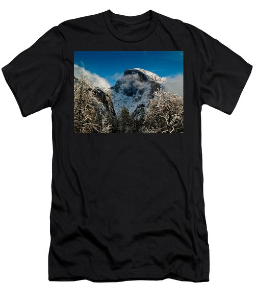 Half Dome Winter Men's T-Shirt (Slim Fit) by Bill Gallagher