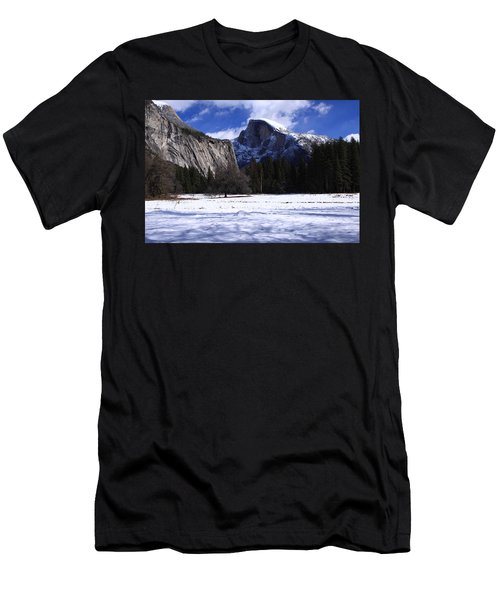 Half Dome Winter Snow Men's T-Shirt (Slim Fit) by Duncan Selby