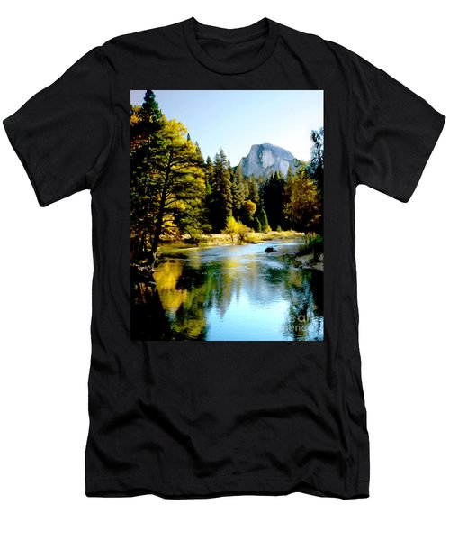 Half Dome Yosemite River Valley Men's T-Shirt (Athletic Fit)
