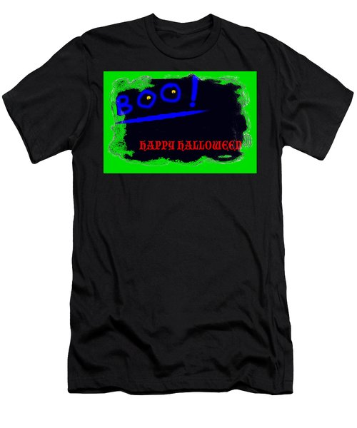 Men's T-Shirt (Slim Fit) featuring the digital art Halloween Boo by Christopher Rowlands