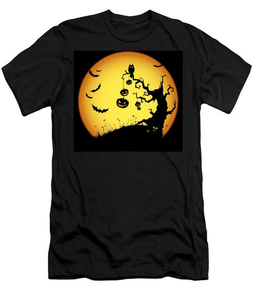 Men's T-Shirt (Slim Fit) featuring the photograph Halloween Haunted Tree by Gianfranco Weiss