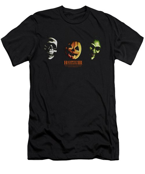 Halloween IIi - Three Masks Men's T-Shirt (Athletic Fit)