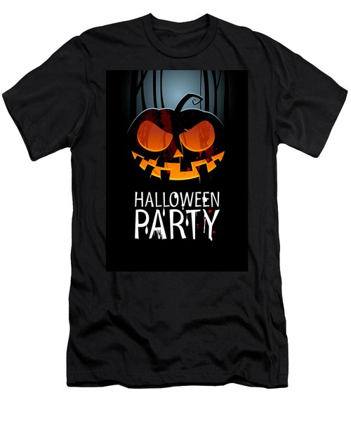 Men's T-Shirt (Slim Fit) featuring the painting Halloween Party by Gianfranco Weiss