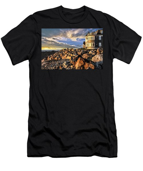 Hampton Beach Sunrise Men's T-Shirt (Athletic Fit)