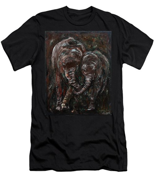Hand In Hand Men's T-Shirt (Slim Fit) by Xueling Zou